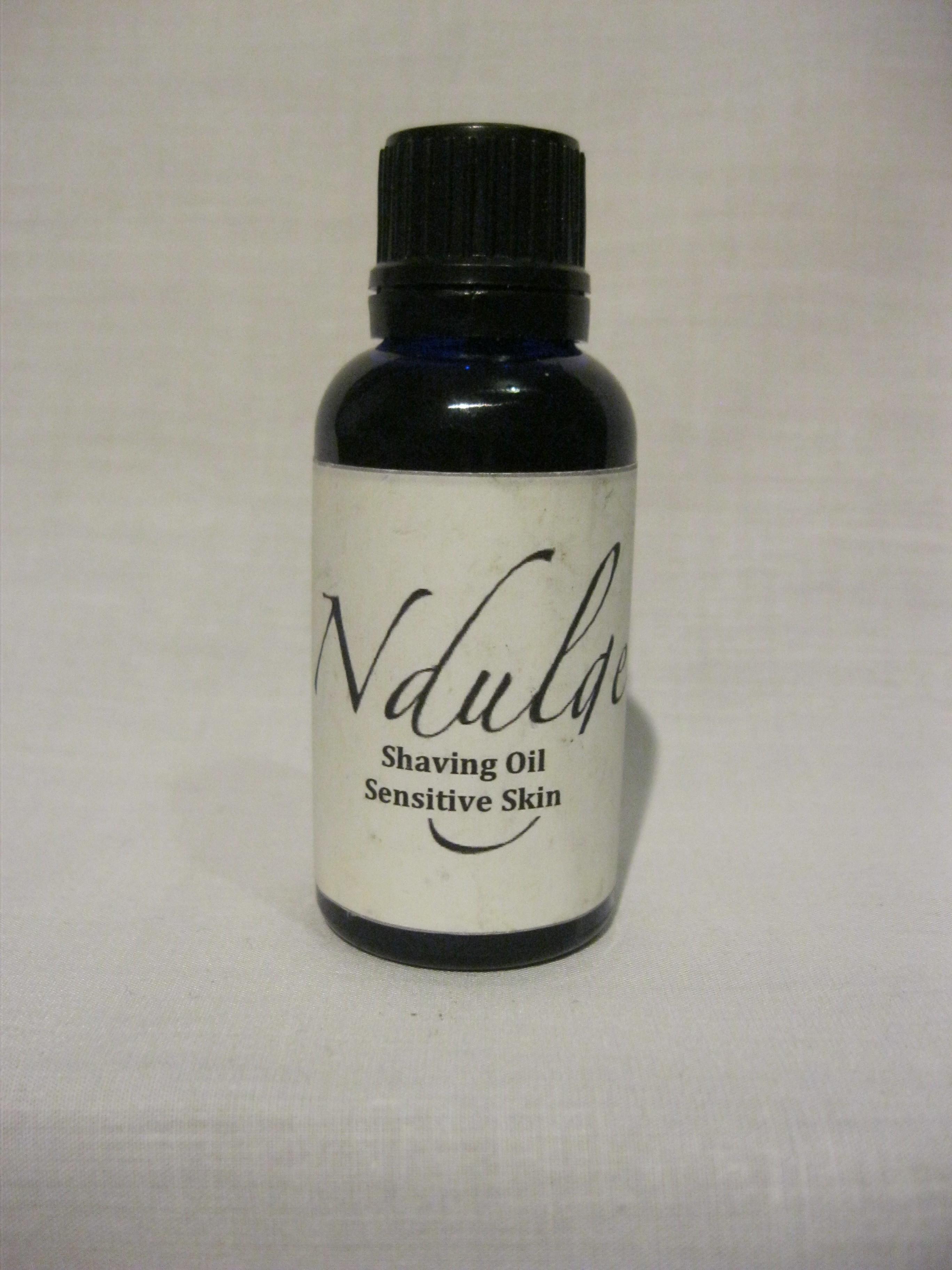 sensitive skin shaving oil ndulge. Black Bedroom Furniture Sets. Home Design Ideas